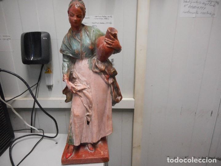 Arte: preciosa figura terracota barro, posible malagueño o cordobes 34 cm alto - Foto 2 - 128136739