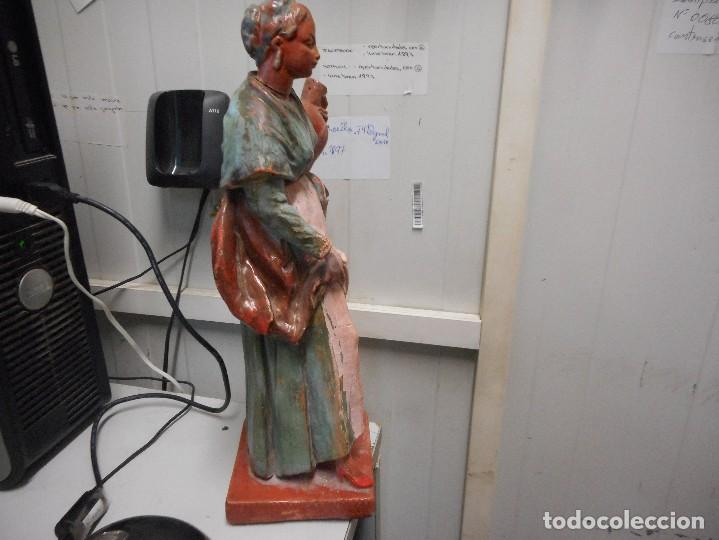 Arte: preciosa figura terracota barro, posible malagueño o cordobes 34 cm alto - Foto 5 - 128136739
