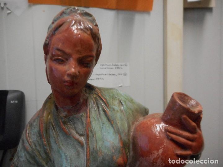 Arte: preciosa figura terracota barro, posible malagueño o cordobes 34 cm alto - Foto 8 - 128136739