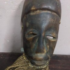 Arte: ANTIGUA TALLA MADERA - ARTE AFRICANO ORIGINAL - MASCARA (DE LAS LLAMADAS DE ''PASAPORTE''). Lote 128347379