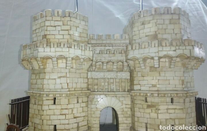 Arte: CONSTRUCCION ARTESANAL DE TORRES DE SERRANOS VALENCIA TALLADA A MANO EN HUESO Y MADERA(ver fotos) - Foto 15 - 127703959