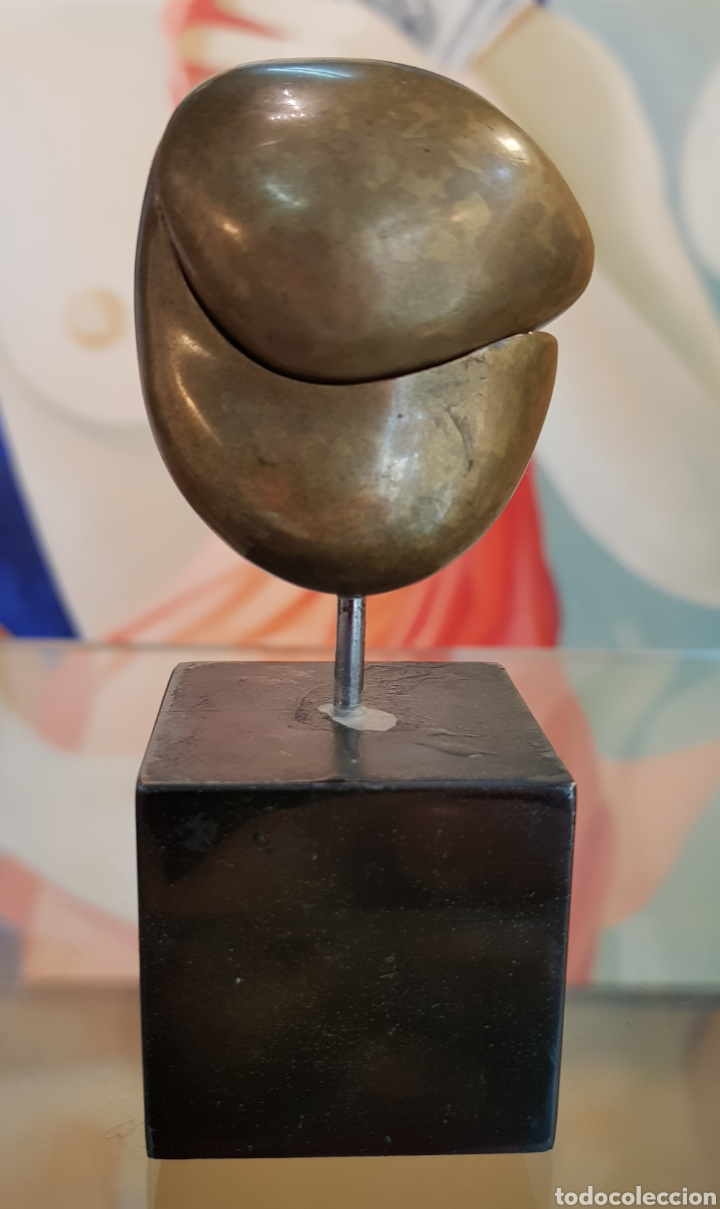 Arte: Machu Arras (Málaga 1948), Pequeña pero muy interesante escultura bronce, firmada. - Foto 2 - 128613307