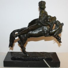 Arte: MOISES COLOMO BRAVO (1932) - EL RAPTO DE DEYANIRA - ESCULTURA EN BRONCE FIRMADA EN 1976. Lote 129215167