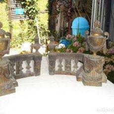 Arte: PRECISA PARAJA DE MORILLOS DE CHIMENEA EN BRONCE DE COLECCION VER FOTOS. Lote 129392555