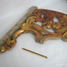 Arte: S.XVII - GARGOLA Y FLOR DE LYS - TALLA ESPAÑOLA EN MADERA DE NOGAL. Lote 129504271