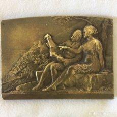 Arte: PLACA BRONCE HENRY DROPSY TOURING CLUB DE FRANCE ART NOUVEAU. Lote 131110747