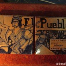 Arte: MOSAICO AZULEJOS ORIGINAL PINTADOS JOAQUIN SOROLLA Y BASTIDA BOCETO PARA DIARIO PUEBLO REPUBLICANO. Lote 131652202