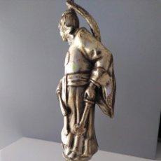Arte: LUCHADOR ESPADA ORIENTAL,FIGURA EN BRONCE NOBLE,190X65 MM.PESADA,NO ES ACTUAL. Lote 131942818