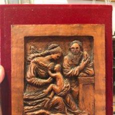 Arte: PLAFON DE TERRACOTA REALIZADO A MANO CON MOTIVO NACIMIENTO BELEN NAVIDAD - RELIGIOSO - NIÑO JESUS. Lote 132164966
