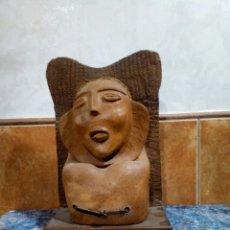 Arte: ESCULTURA DE TERRACOTA, FIRMADA SHALOM XG.. Lote 132232077
