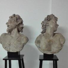 Arte: ESCULTURAS DE TERRACOTA ESCUELA FRANCESA S.XVIII SÁTIRO Y BACANTE. Lote 132438090