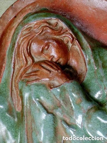 PRECIOSO RELIEVE - OREJUDO - TERRACOTA VIDRIADA - ARTE SALMANTINO - INVIERNO - ESCULTURA BARRO (Arte - Escultura - Terracota )