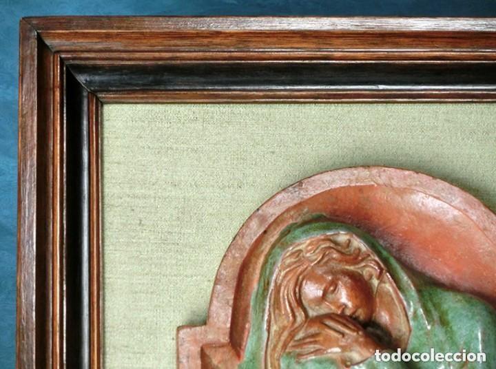Arte: PRECIOSO RELIEVE - OREJUDO - TERRACOTA VIDRIADA - ARTE SALMANTINO - INVIERNO - ESCULTURA BARRO - Foto 19 - 132615502