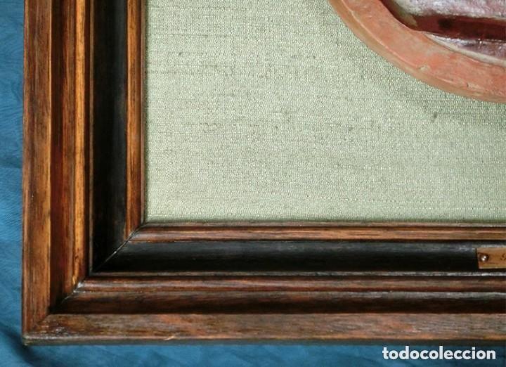 Arte: PRECIOSO RELIEVE - OREJUDO - TERRACOTA VIDRIADA - ARTE SALMANTINO - INVIERNO - ESCULTURA BARRO - Foto 24 - 132615502