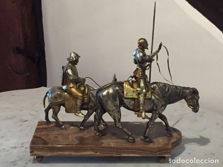 DON QUIJOTE Y SANCHO BRONCES ZUMEL (Arte - Escultura - Bronce)