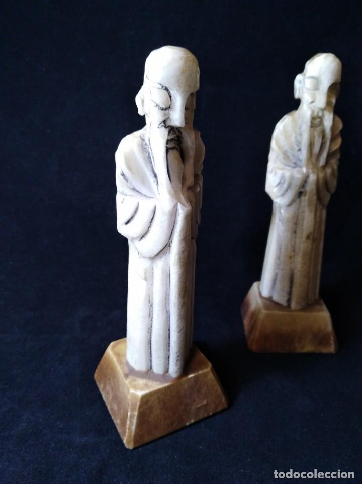 Arte: Dos figuras de alabastro o marmol - Foto 2 - 132834154