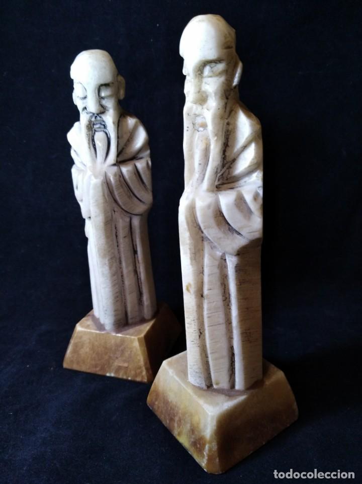 Arte: Dos figuras de alabastro o marmol - Foto 3 - 132834154