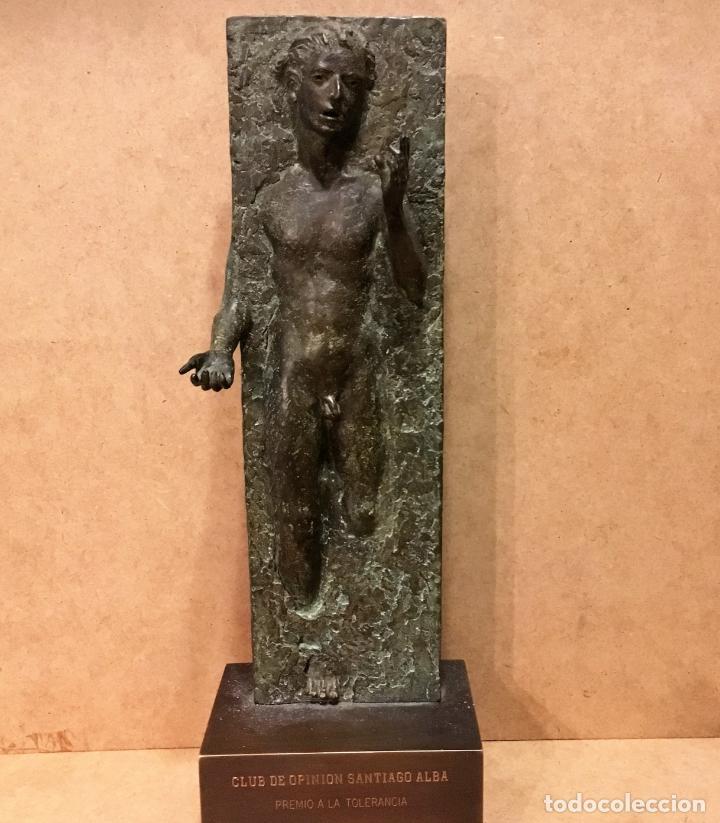 PREMIO A LA TOLERANCIA 1999 POR LUIS SANTIAGO PARDO (VALLADOLID) (Arte - Escultura - Bronce)