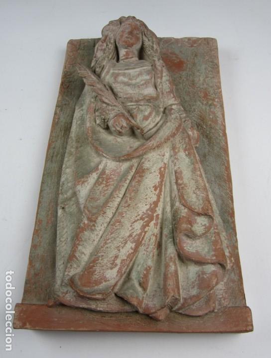 Arte: Bajo relieve en terracota atribuido a Enric Monjo, 35x19cm - Foto 2 - 133194082