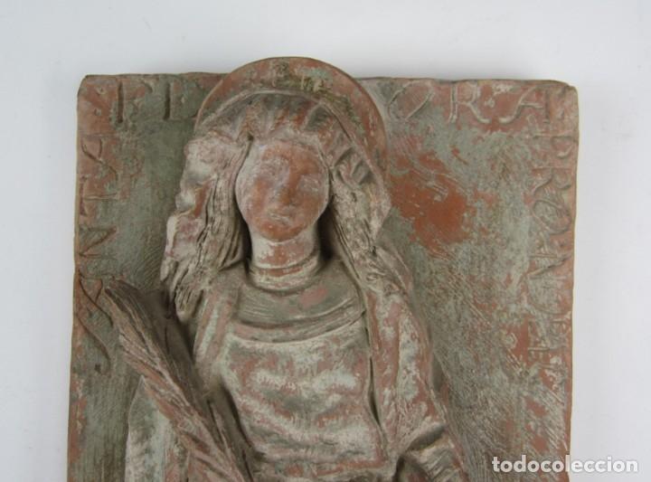 Arte: Bajo relieve en terracota atribuido a Enric Monjo, 35x19cm - Foto 3 - 133194082