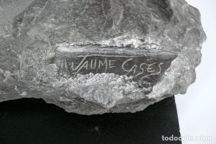Arte: Jaume Cases,Barcelona- Escultura busto de caballo en piedra de Calatorao- Obra única - Foto 5 - 54885914