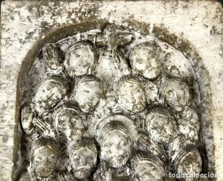 Arte: PLAFÓN JESÚS Y LOS 12 APÓSTOLES. SIMIL PIEDRA. ESPAÑA. CIRCA 1950. - Foto 2 - 133719950