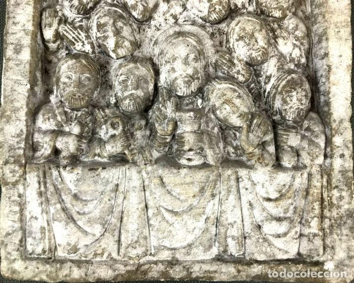 Arte: PLAFÓN JESÚS Y LOS 12 APÓSTOLES. SIMIL PIEDRA. ESPAÑA. CIRCA 1950. - Foto 3 - 133719950