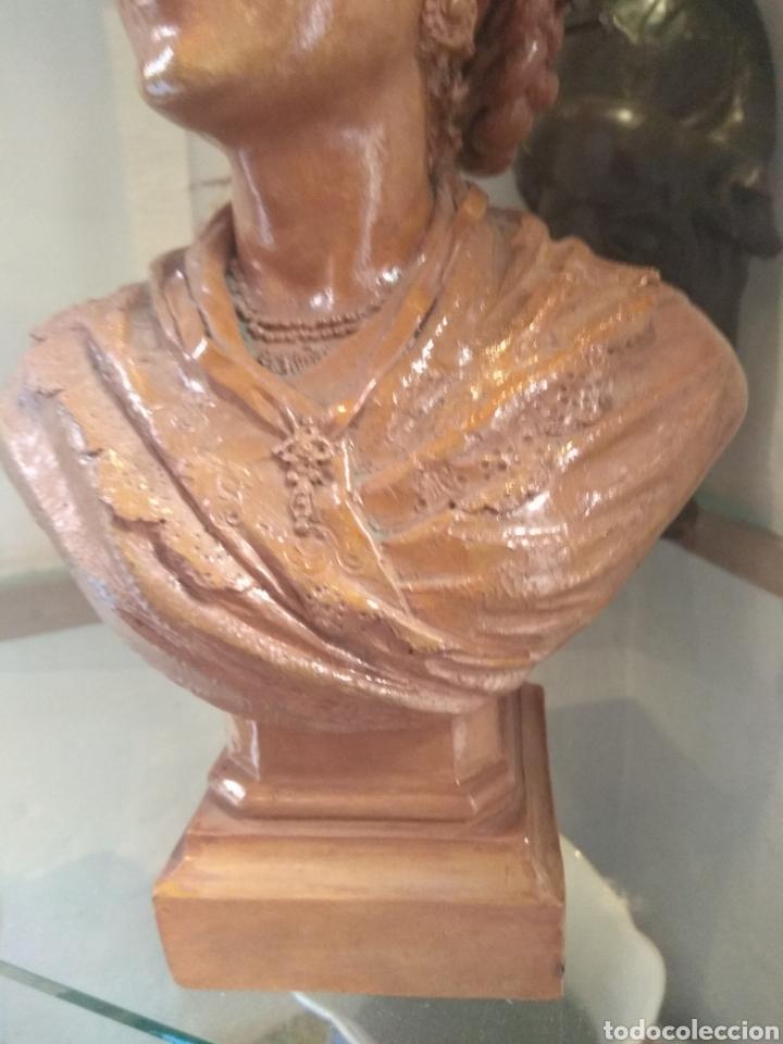 Arte: Busto Valenciana Terracota - Antonio Cortina Farinos 1889 - Firmado y Dedicado - Foto 7 - 133854189