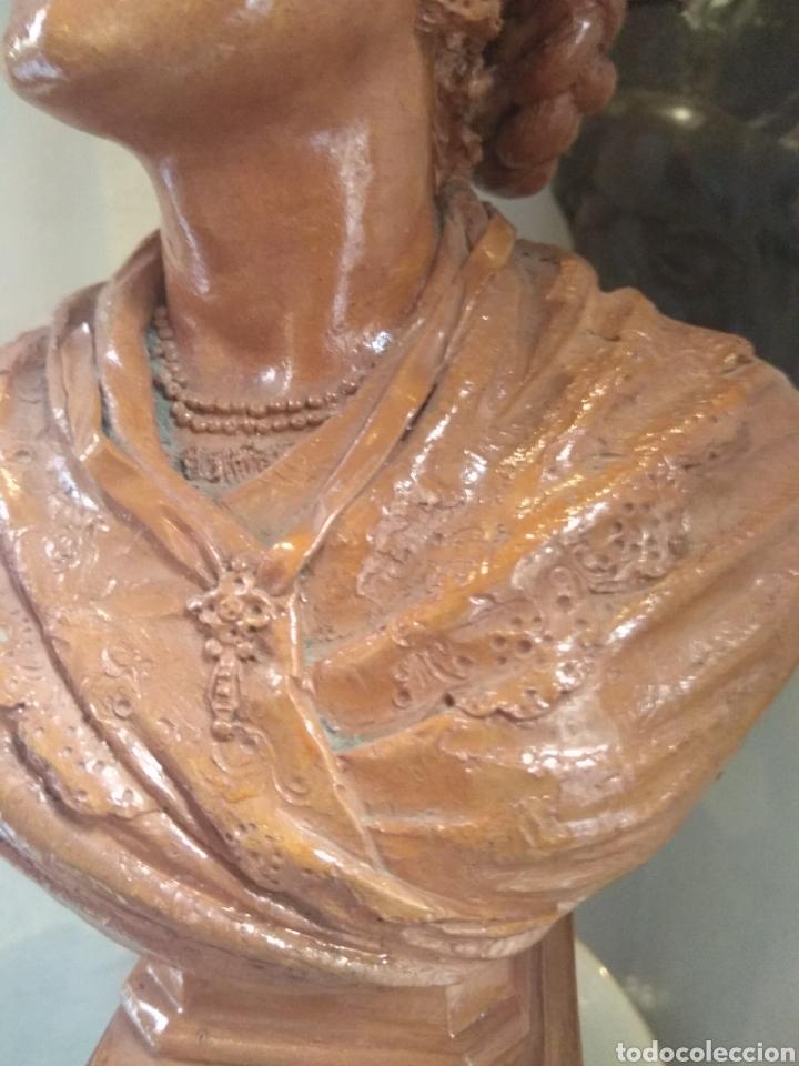 Arte: Busto Valenciana Terracota - Antonio Cortina Farinos 1889 - Firmado y Dedicado - Foto 8 - 133854189