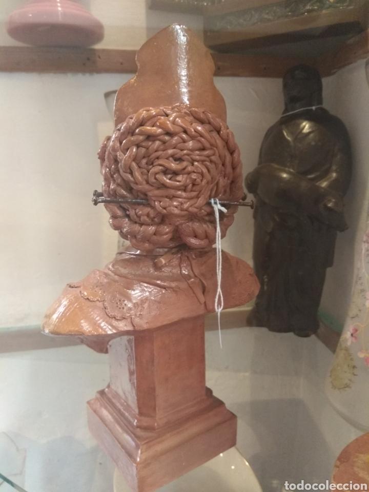 Arte: Busto Valenciana Terracota - Antonio Cortina Farinos 1889 - Firmado y Dedicado - Foto 10 - 133854189