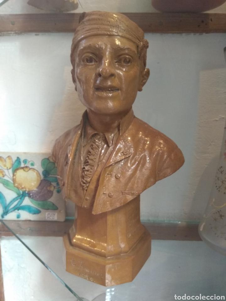 BUSTO VALENCIANO TERRACOTA - ANTONIO CORTINA FARINOS 1890 - FIRMADO Y DEDICADO (Arte - Escultura - Terracota )