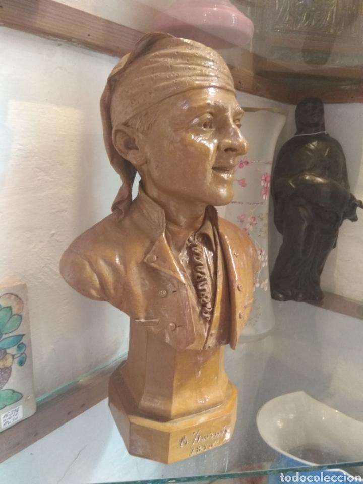 Arte: Busto Valenciano Terracota - Antonio Cortina Farinos 1890 - Firmado y Dedicado - Foto 2 - 133855789