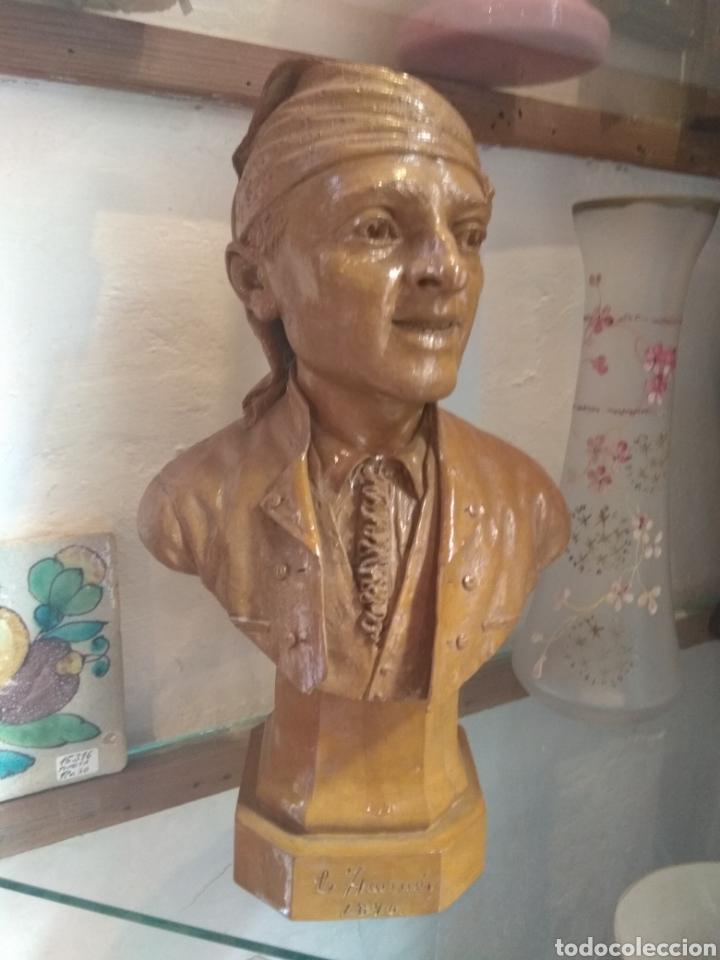 Arte: Busto Valenciano Terracota - Antonio Cortina Farinos 1890 - Firmado y Dedicado - Foto 3 - 133855789