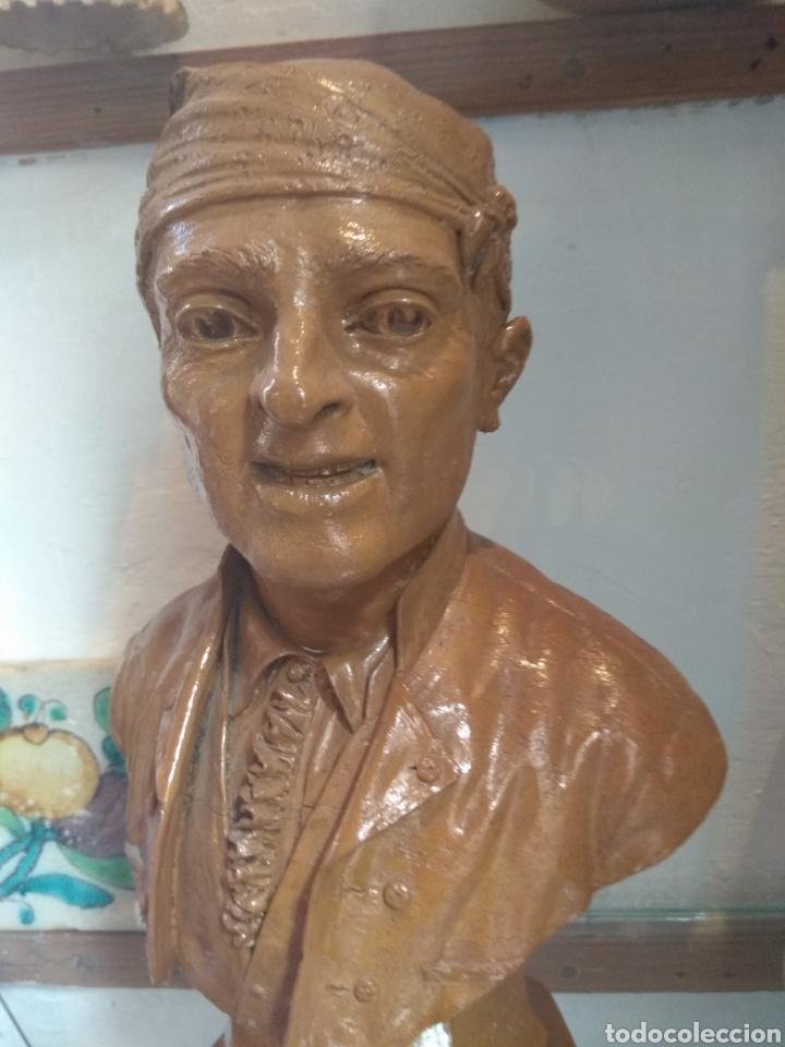 Arte: Busto Valenciano Terracota - Antonio Cortina Farinos 1890 - Firmado y Dedicado - Foto 5 - 133855789