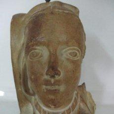 Arte: BONITA CARIATIDE GÓTICA - CATALUÑA - ESCULTURA, BUSTO - DAMA EDAD MEDIA -TERRACOTA - S. XV-XVI. Lote 134771014