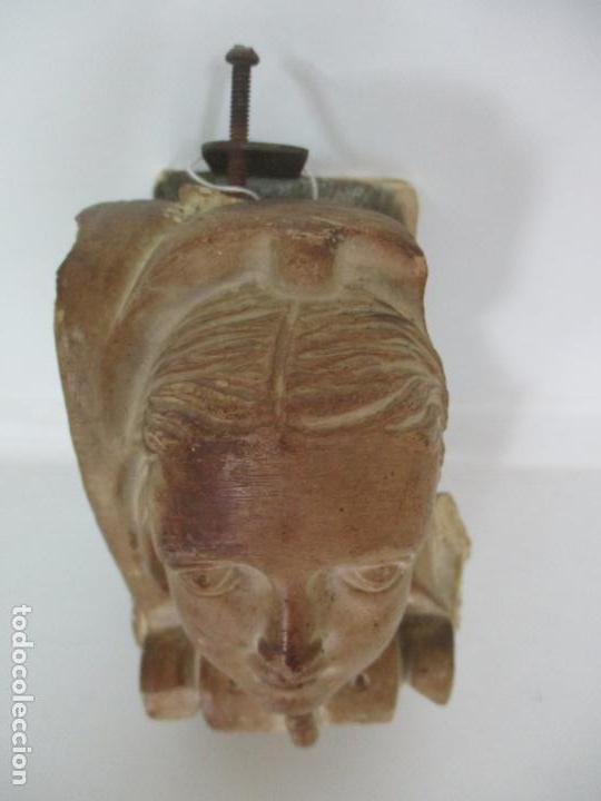 Arte: Bonita Cariatide Gótica - Cataluña - Escultura, Busto - Dama Edad Media -Terracota - S. XV-XVI - Foto 6 - 134771014