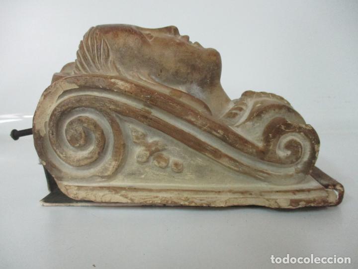 Arte: Bonita Cariatide Gótica - Cataluña - Escultura, Busto - Dama Edad Media -Terracota - S. XV-XVI - Foto 18 - 134771014