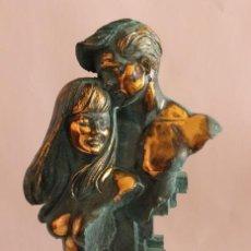 Arte: ESCULTURA FIRMADA EN BRONCE - SEGUNDA MITAD DEL SIGLO XX. Lote 135094478