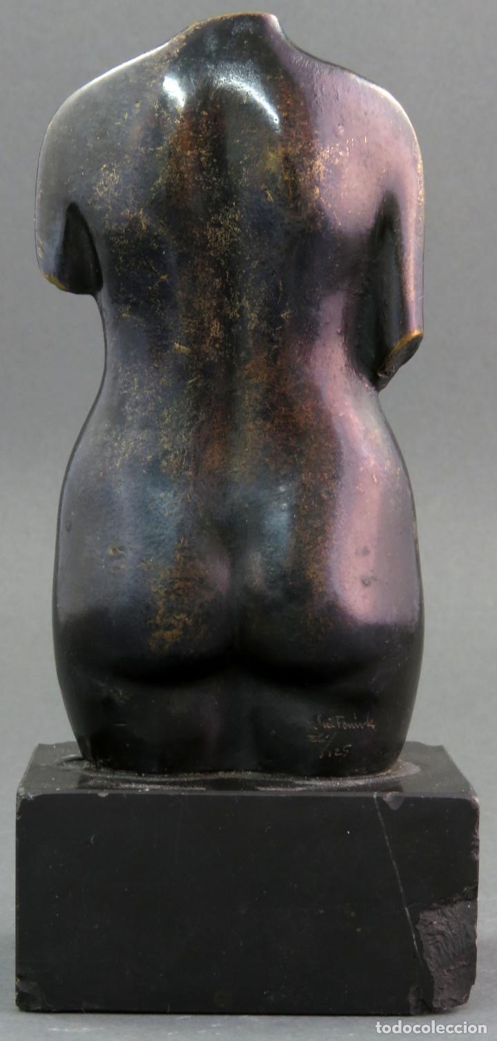 Arte: Escultura Torso femenino en bronce ejemplar N 20 Jose Luis Fernandez con certificado autor - Foto 4 - 136033042