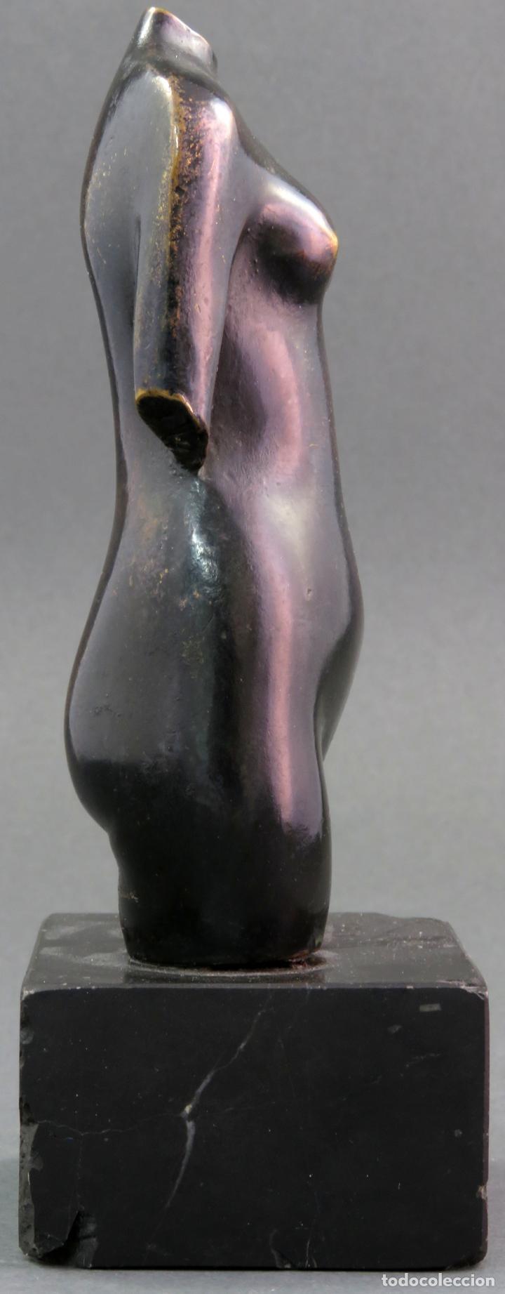 Arte: Escultura Torso femenino en bronce ejemplar N 20 Jose Luis Fernandez con certificado autor - Foto 5 - 136033042
