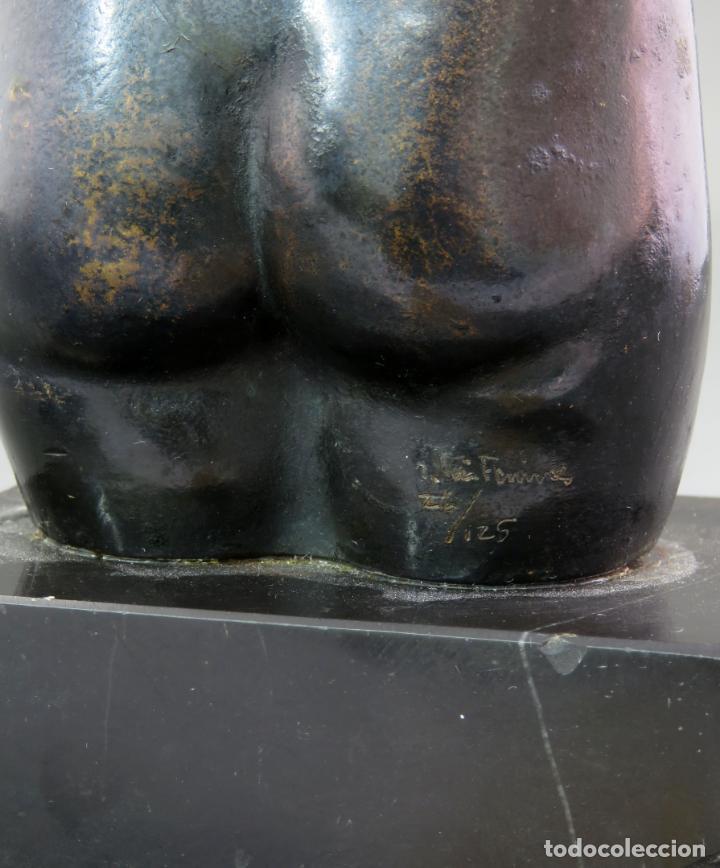Arte: Escultura Torso femenino en bronce ejemplar N 20 Jose Luis Fernandez con certificado autor - Foto 7 - 136033042
