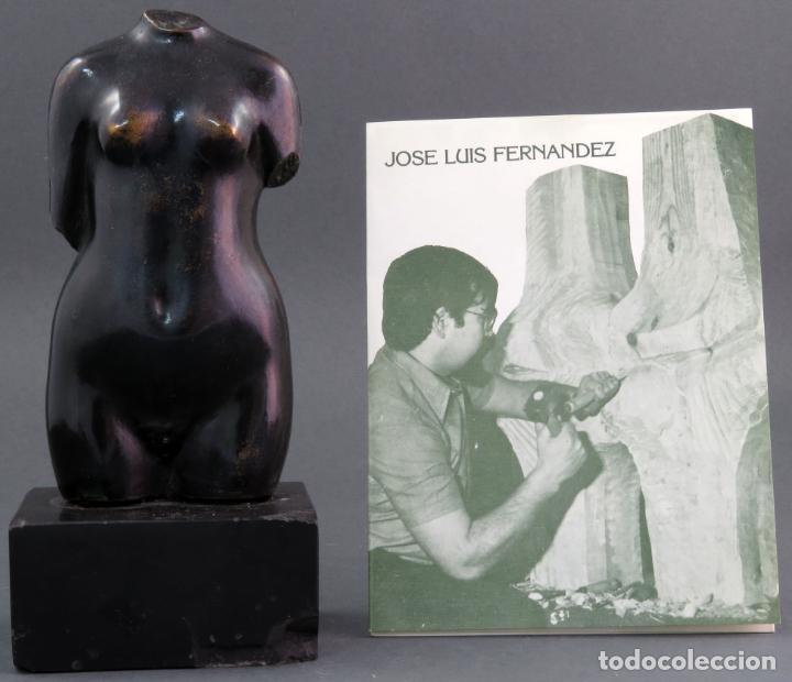 Arte: Escultura Torso femenino en bronce ejemplar N 20 Jose Luis Fernandez con certificado autor - Foto 8 - 136033042