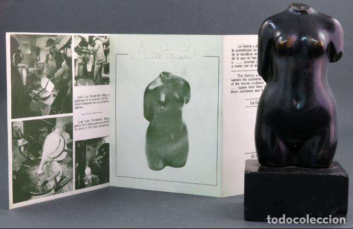 Arte: Escultura Torso femenino en bronce ejemplar N 20 Jose Luis Fernandez con certificado autor - Foto 9 - 136033042