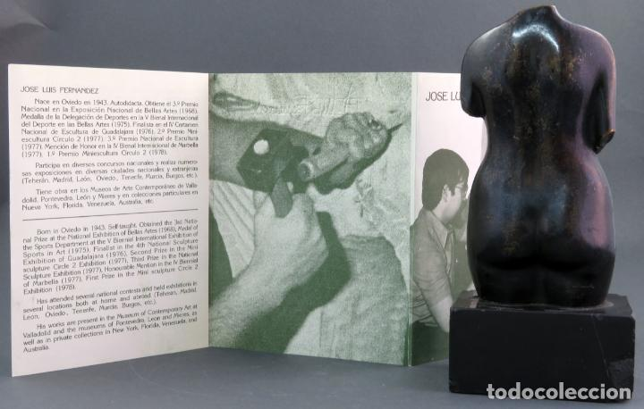 Arte: Escultura Torso femenino en bronce ejemplar N 20 Jose Luis Fernandez con certificado autor - Foto 11 - 136033042