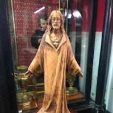 Arte: FIGURA SAGRADO CORAZON DE JESUS REALIZADO A MANO EN TERRACOTA CON MEDIDA 34 CM - RELIGIOSA. Lote 136113062