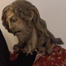 Arte: CRISTO, BUSTO CRISTO, BUSTO TAMAÑO NATURAL, SAN JUAN, TALLA, CRISTO TAMAÑO NATURAL,. Lote 136164492