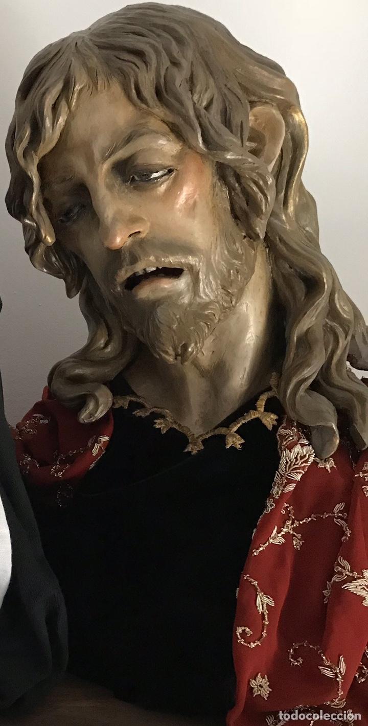 Arte: Cristo, busto Cristo, busto tamaño natural, san Juan, talla, Cristo tamaño natural, - Foto 2 - 136164492