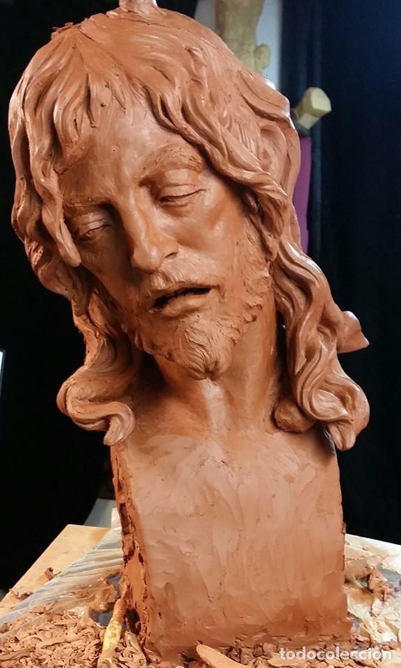 Arte: Cristo, busto Cristo, busto tamaño natural, san Juan, talla, Cristo tamaño natural, - Foto 3 - 136164492