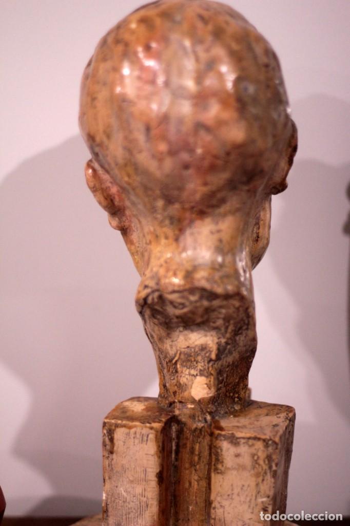 Arte: ESCULTURA BUSTO MASCULINO, FIRMADA S.P.D? S.P.B? BUENA CALIDAD, 42CM DE ALTURA - Foto 16 - 136303846