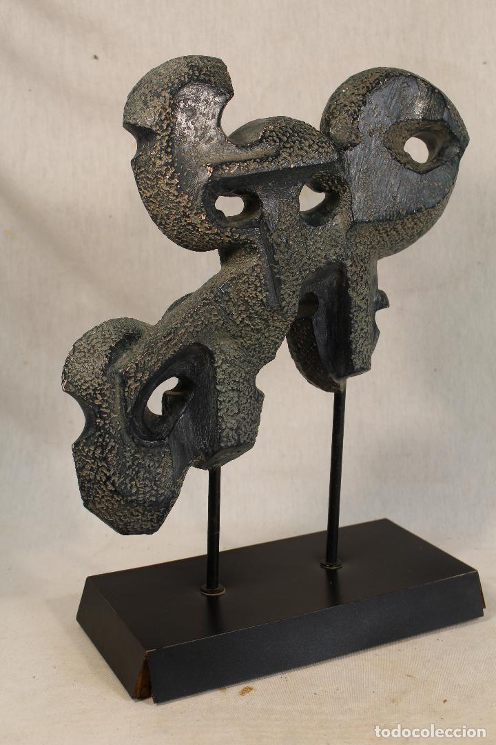Arte: escultura con caras en resina firmada - Foto 10 - 136666658